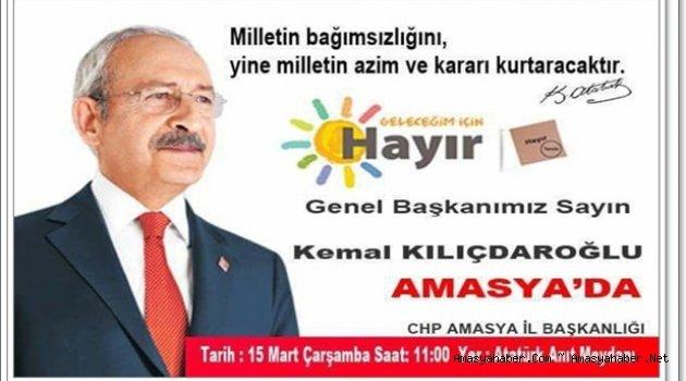 Kılıçdaroğlu'nun ilk mitingi Amasya'da!