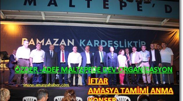 Maltepe'de  AMASYALILAR GECESİ MUHTEŞEM GEÇTİ