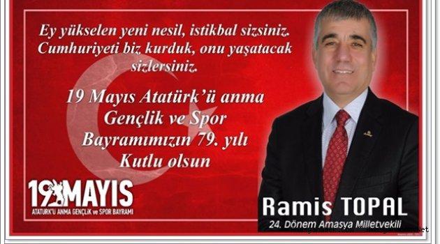 Ramis Topal'ın 19.Mayıs Gençlik ve Spor Bayramı Mesajı