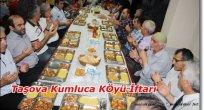 Taşova Kumluca Köyü Dernek Üyeleri İftarda Buluştu.