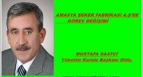 Amasya Şeker Fabrikası A.Ş 'de Mustafa Saatci Başkan OLdu.